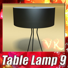 3D Model Modern Table Lamp 09 Tesla Estiluz 3D Model