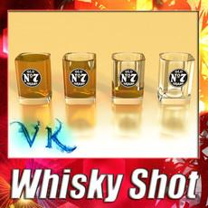 3D Model High Detailed Whisky Shot Glass 3D Model
