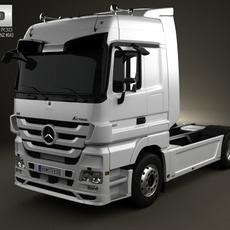 Mercedes-Benz Actros Tractor 2-axis 2011 3D Model