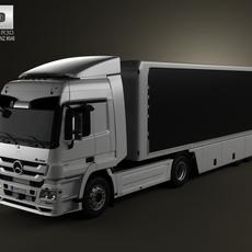 Mercedes-Benz Actros Tractor Trailer 2-axis 2011 3D Model