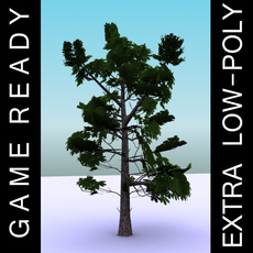 GameReady Low Poly Tree Pack 3 (Horse-chestnut) 3D Model