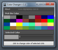 Color Changer (ctrls) for Maya 1.1.0 (maya script)