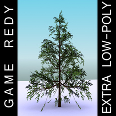 GameReady Low Poly Tree Pack 1 (Lawson's Cypress) 3D Model