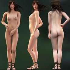 Anko -  Rigged Realistic Woman for Maya 3D Model