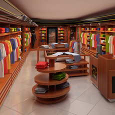 Clothing Store interior for Men and Women (Render Ready) 3D Model