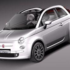 Fiat 500C 2013 3D Model