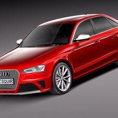 Audi RS4 2013 sedan 3D Model