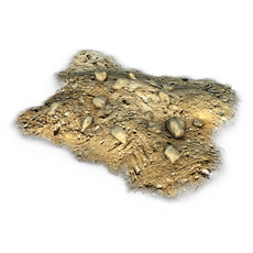 Dirt Pile with Rocks 3D Model