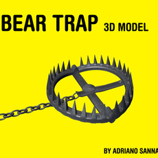 Bear Trap / hunter's trap 3D Model