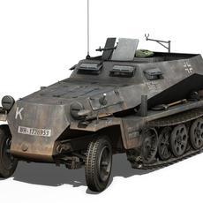 SD.KFZ 250/1 - Half-track troop carrier 3D Model