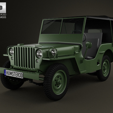Jeep Willys MB 1941 3D Model