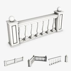 Railing module 3D Model