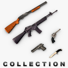 Weapons collection pack 3D Model