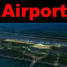Airport 10 night sence 3D Model