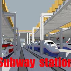 Railway_station 001 3D Model