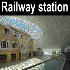 Railway_station 005 3D Model