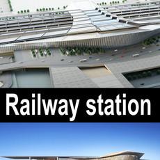 Railway_station 008 3D Model