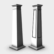 Square craftsman columns 3D Model