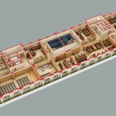 3D Model Detailed Office Building Interior Scenes 3D Model