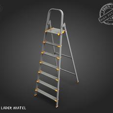 Metal step ladder 3D Model