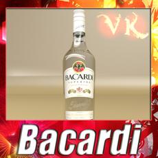Photorealistic Liquor Bottle : Bacardi Superior. 3D Model