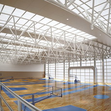 Basketball Arena 001 3D Model