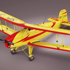 Bucker Bu131 Jungmann 3D Model