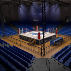 Boxing Stadium 3D Model