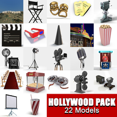 Hollywood Collection Pack  3D Model