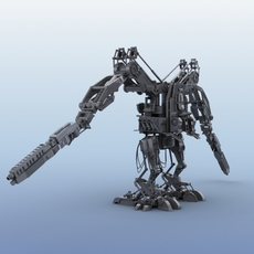 Robot 02  3D Model