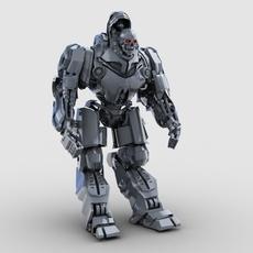 Skull Robot 3D Model