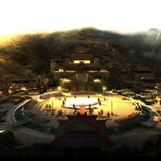 China Temple lighting 7 3D Model