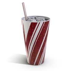 Ice Cold Fountain Drink 3D Model