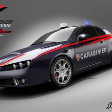 Alfa Brera Carabinieri 3D Model