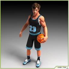 White Basketball Player (CG) 3D Model