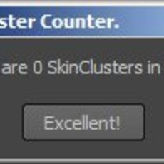 SkinCluster counter for Maya 1.0.0 (maya script)
