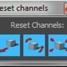 Channel reset for Maya 1.0.0 (maya script)