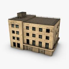 Low poly building 3D Model