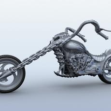 Sci Fi Motorcycle 3D Model