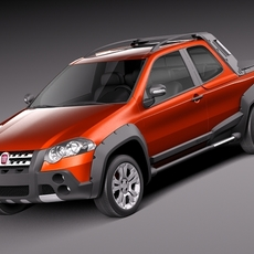 Fiat Strada Adventure 2013 3D Model