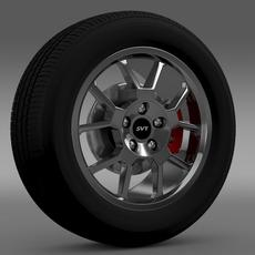 Ford_Mustang GT500 Shelby 2007 wheel 3D Model