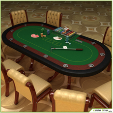 Table Casino - Texas Holdem Poker 3D Model