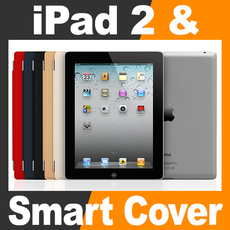 Apple iPad 2 and Smart Cover 3D Model