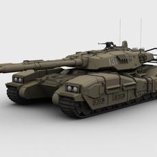 Type 61 main battle tank 3D Model