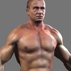 Lowpoly BodyBuilder 3D Model