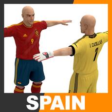 Football Player and Goalkeeper - Spain National Team 3D Model