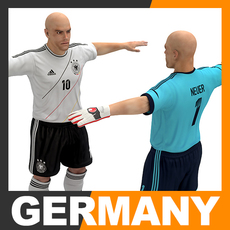 Football Player and Goalkeeper - Germany National Team 3D Model