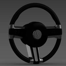 Steering Wheel Shelby Mustang 3D Model
