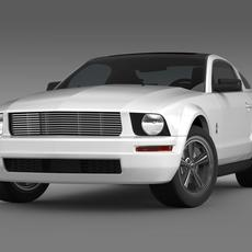 Ford Mustang WIP 2009   3D Model