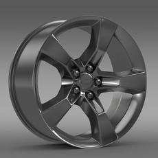 Chevrolet Camaro 2010 rim 3D Model
